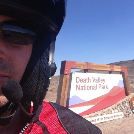 Jeff Padgett riding Death Valley